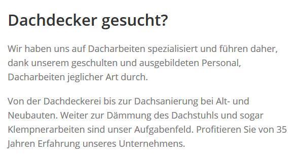 Dachdecker für  Todendorf, Schönberg, Großhansdorf, Bargteheide, Hammoor, Steinburg, Lasbek oder Hoisdorf, Lütjensee, Tremsbüttel