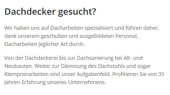 Dachdecker aus  Hammoor, Hoisdorf, Großhansdorf, Elmenhorst, Bargteheide, Steinburg, Delingsdorf und Todendorf, Lasbek, Tremsbüttel
